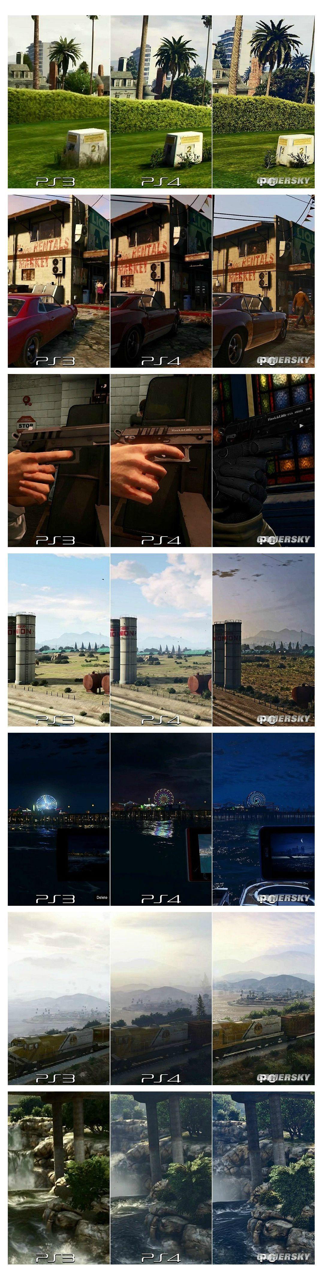 GTA5 콘솔판 vs PC판 그래픽 비교.jpg