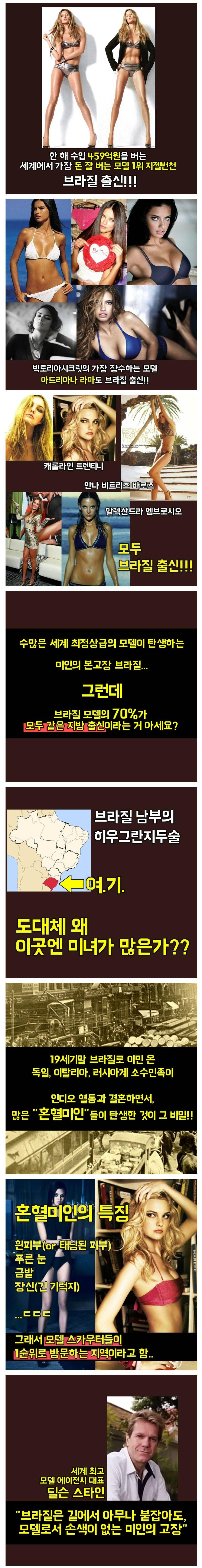브라질에 미인이 많은 이유.jpg